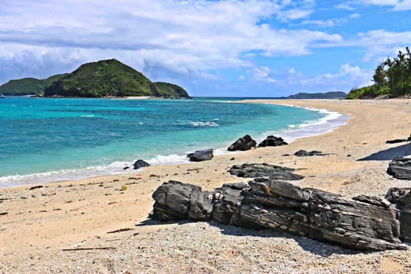 Plage de Nishibama à Aka jima