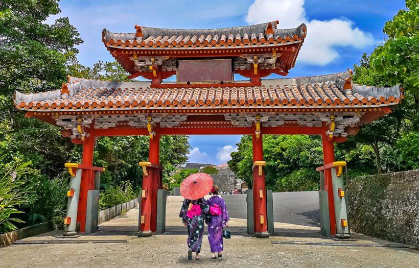 Shureimon Gate in Shuri castle in Okinawa