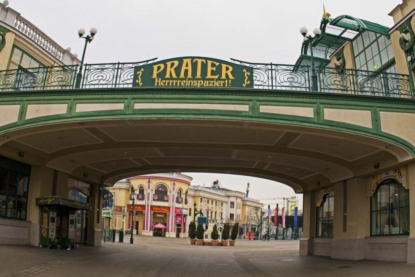Vienna/Austia-01.13.2020:Prater amusement park in Vienna in winter