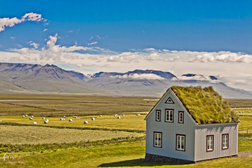 Traditional Icelandic building – Glaumbar farm.
